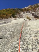 Rock Climbing Photo: Looking Up at P1 from a point about 25 ft up the p...