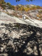 Rock Climbing Photo: Our P3  (Not Todd Swain's) Note the very white str...