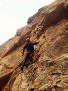 Rock Climbing Photo: SVS nearing the crux of H.B.