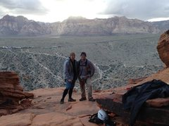 Rock Climbing Photo: Doc and I on our Red Rocks Climbing expedition