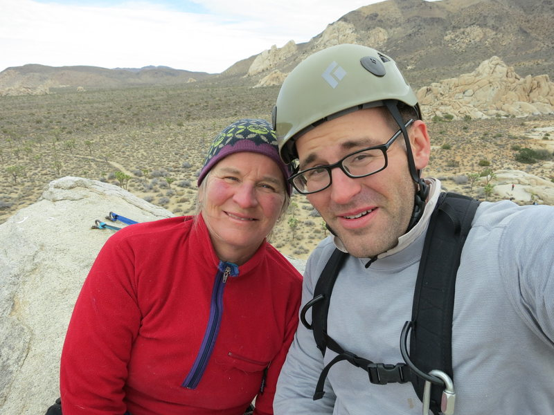 Rock Climbing Photo: Climbing with Mom, Head Stone in J-tree at Christm...