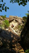 Rock Climbing Photo: Charles laying it back