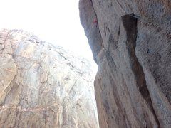 Rock Climbing Photo: Pitch 2 & 3 link! It seemed logical, and there wer...