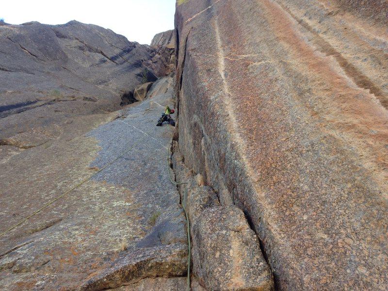 Rock Climbing Photo: Pitch 7 corner!