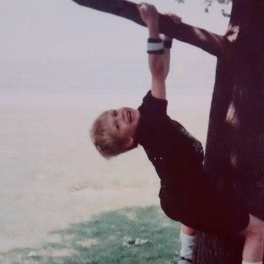 Rock Climbing Photo: professional arborist in the making