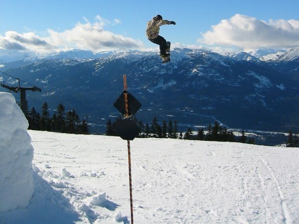 huge kicker in Whistler, BC pro park.