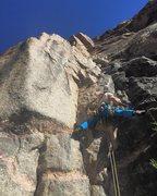 Rock Climbing Photo: Me (J. Antin) starting up P1 of King Me. This is j...
