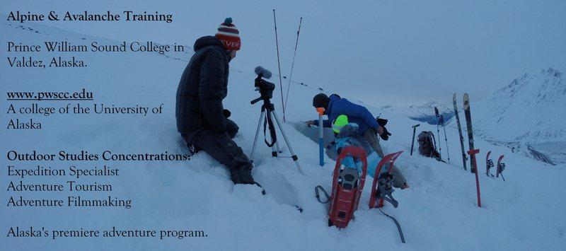 Avalanche Training on Thompson Pass, Valdez AK.
