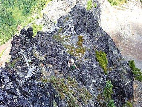 First alpine climb in the Tattoosh!