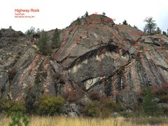 Hi way rock, mile post 28 st route 291, about 6 miles west of Tum Tum.   <br />These are routes added in 2015 so far.  More new development coming.