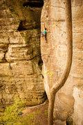 Rock Climbing Photo: Erica enjoying the technical goodness