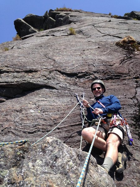 Rock Climbing Photo: Variation AMC Route second belay.