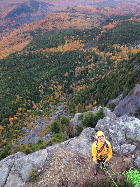 Rock Climbing Photo: Pitch 5 belay ledge.  I have a video posted on You...