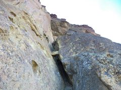 Rock Climbing Photo: Looking up at the 2nd pitch