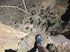 """Rock Climbing Photo: Monster rappel! Oh...most of it is totally """"o..."""