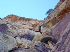 Rock Climbing Photo: P7. The white roof.