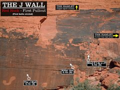 Rock Climbing Photo: Routes at the J wall. First bolts circled.Cheers. ...