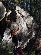 Rock Climbing Photo: Starting moves on Jumbo Shrimp.