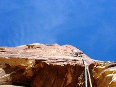 Rock Climbing Photo: Roof pitch.
