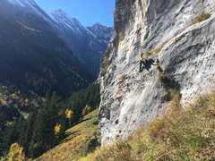 Rock Climbing Photo: Ellaine prepares to rappel from the top of Die Sau...