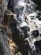 Rock Climbing Photo: Looking up the Whip Tide Dihedral