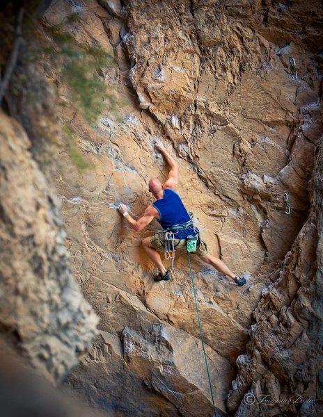 Rock Climbing Photo: Great Train Robbery 5.11b Seen here: Matt Jensen