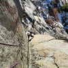 Michelle Johnson follows Demonology (5.10b lb)
