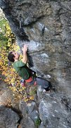 Rock Climbing Photo: Lance mid-crux