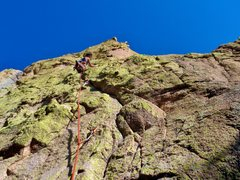 Rock Climbing Photo: Highly recommended mystery summit pitch on the Mut...