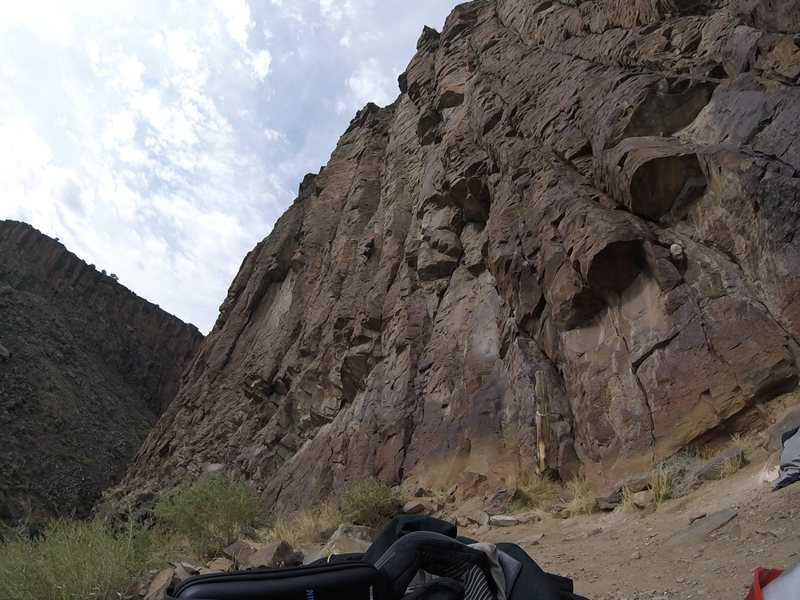 Closing in on the crux (or at least what I thought was the crux).