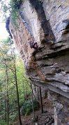 Rock Climbing Photo: Erik on Psycho Wrangler 5.12a