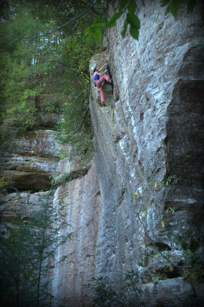Rock Climbing Photo: Above the difficulties and enjoying the easier cli...