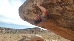 Rock Climbing Photo: Fighting to get the shoulders through