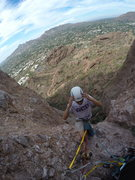 Rock Climbing Photo: Top of second pitch