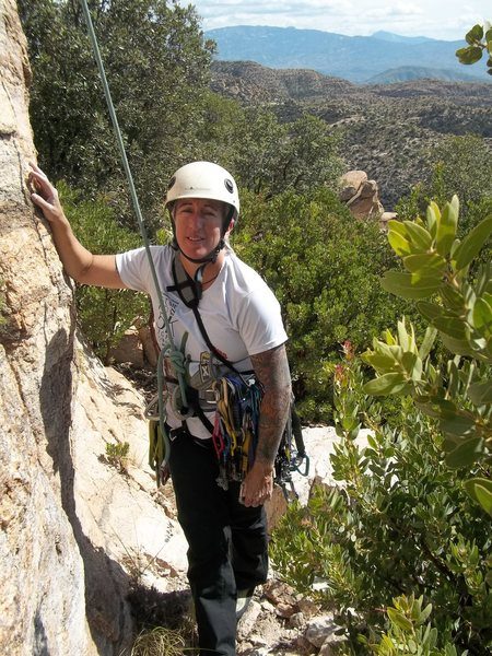 Rock Climbing Photo: Just finished leading Rabbit Tracks, 5.6 old-schoo...