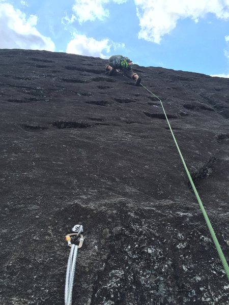 Rock Climbing Photo: P3 and the crux of NBNW.