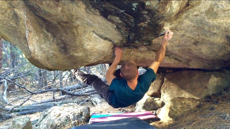 Rock Climbing Photo: John on the starting moves