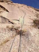 Rock Climbing Photo: A rope on the route and the left start.