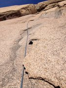 Rock Climbing Photo: The fun layback crack near the top.