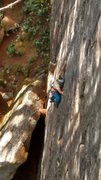 Rock Climbing Photo: Matt warming up on Sideshow