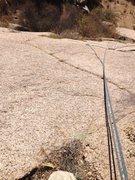 Rock Climbing Photo: Crux area of Transformer