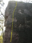 Rock Climbing Photo: Work the face to the left side make a right hand c...