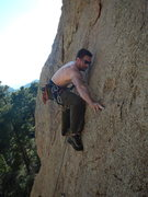 Rock Climbing Photo: Moving to, or just after the 2nd bolt on Glowing i...