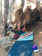 Rock Climbing Photo: Few moves in on The Goat