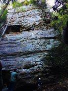 Rock Climbing Photo: Pogue Ethics (5.9+)
