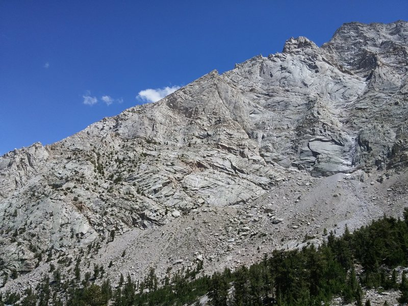 The North Ridge as seen from the Meysan Lakes Trail.