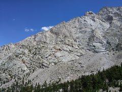 Rock Climbing Photo: The North Ridge as seen from the Meysan Lakes Trai...