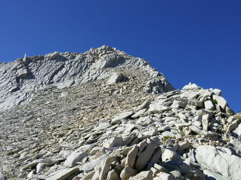 Rock Climbing Photo: Looking up at the first tower from about 11,200 fe...