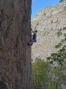 Rock Climbing Photo: Riding the arete.
