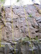 Rock Climbing Photo: Left 3 most routes